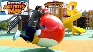 Huge Angry Birds Activity Park for Kids | Playtime Largest Playground Slingshot Slides Day Out