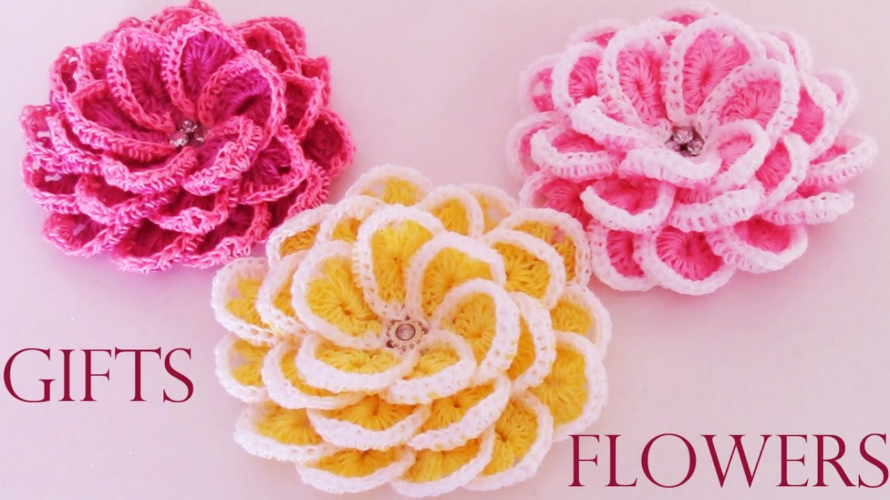 Como tejer f cil y r pido flores en una sola tira make creates beautiful flowers cute gifts - Como confeccionar cortinas paso a paso ...