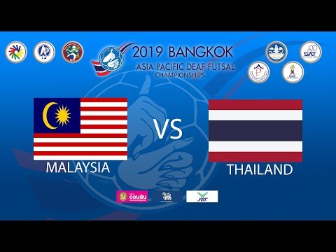 Malaysia Vs Thailand 2019 Asia Pacific Deaf Futsal Championships Youtube