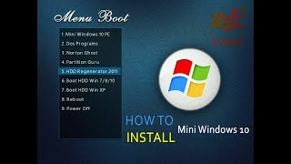 How to Install Mini Windows 10 to USB.