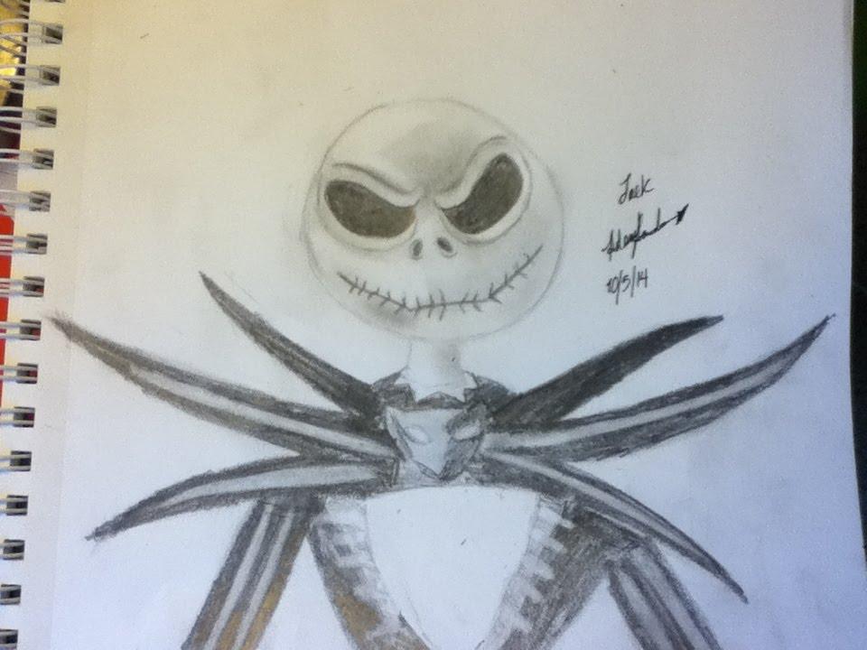 Jack: Nightmare before Christmas Speed Drawing - YouTube