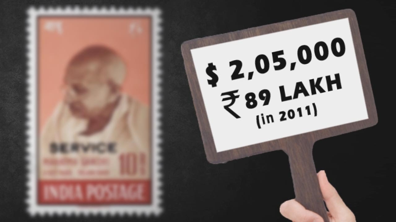 Mahatma Gandhi's most expensive postage stamp | Mintage World's Hidden  Treasures