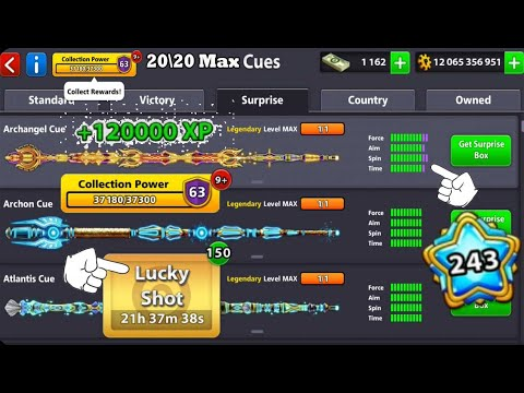 8 Ball Pool Upgrade 20 Legendary Cue To Level Max 😱 120K XP