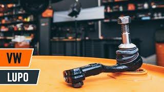 Cómo cambiar Rótula barra de dirección VW LUPO (6X1, 6E1) - vídeo gratis en línea