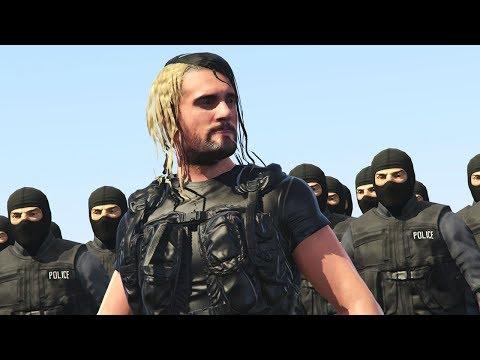 SETH ROLLINS JOINS S.W.A.T TEAM ELITE | GTA 5 WWE MODS