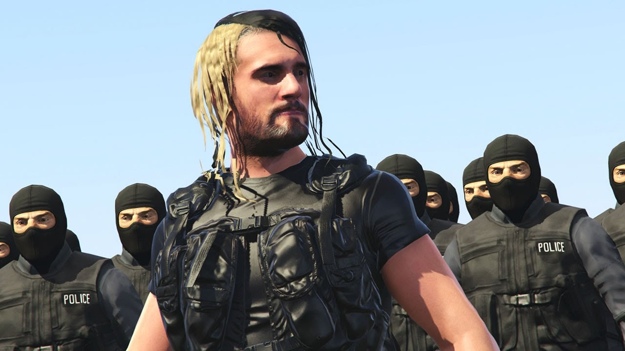 SETH ROLLINS JOINS SWAT TEAM ELITE GTA 5 WWE MODS