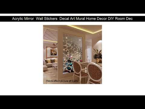Acrylic Mirror  Wall Stickers  Decal Art Mural Home Decor DIY Room Decoration Sticker mural