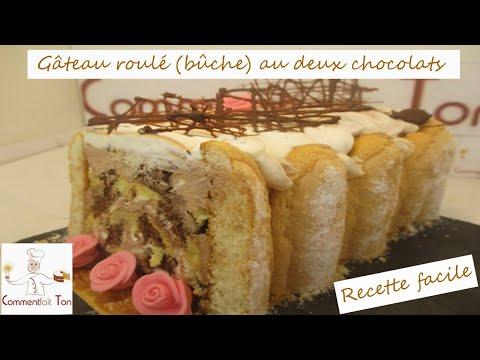 gâteau-roulé-(bûche)-au-deux-chocolats-par-commentfait-ton---recette-facile