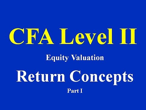 CFA level II- Equity Valuation- Return Concepts- Part I