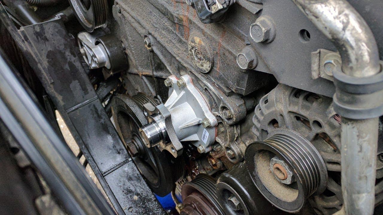 replacing water pump belt tensioner fan clutch chevy colorado 4 15 2018 [ 1280 x 720 Pixel ]