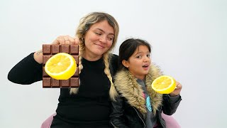 Masal plays chocolate vegetables with mommy in challenge
