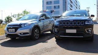 Jeep Compass Flex 2018 x Honda HRV: comparativo - preço, consumo e desempenho - www.car.blog.br
