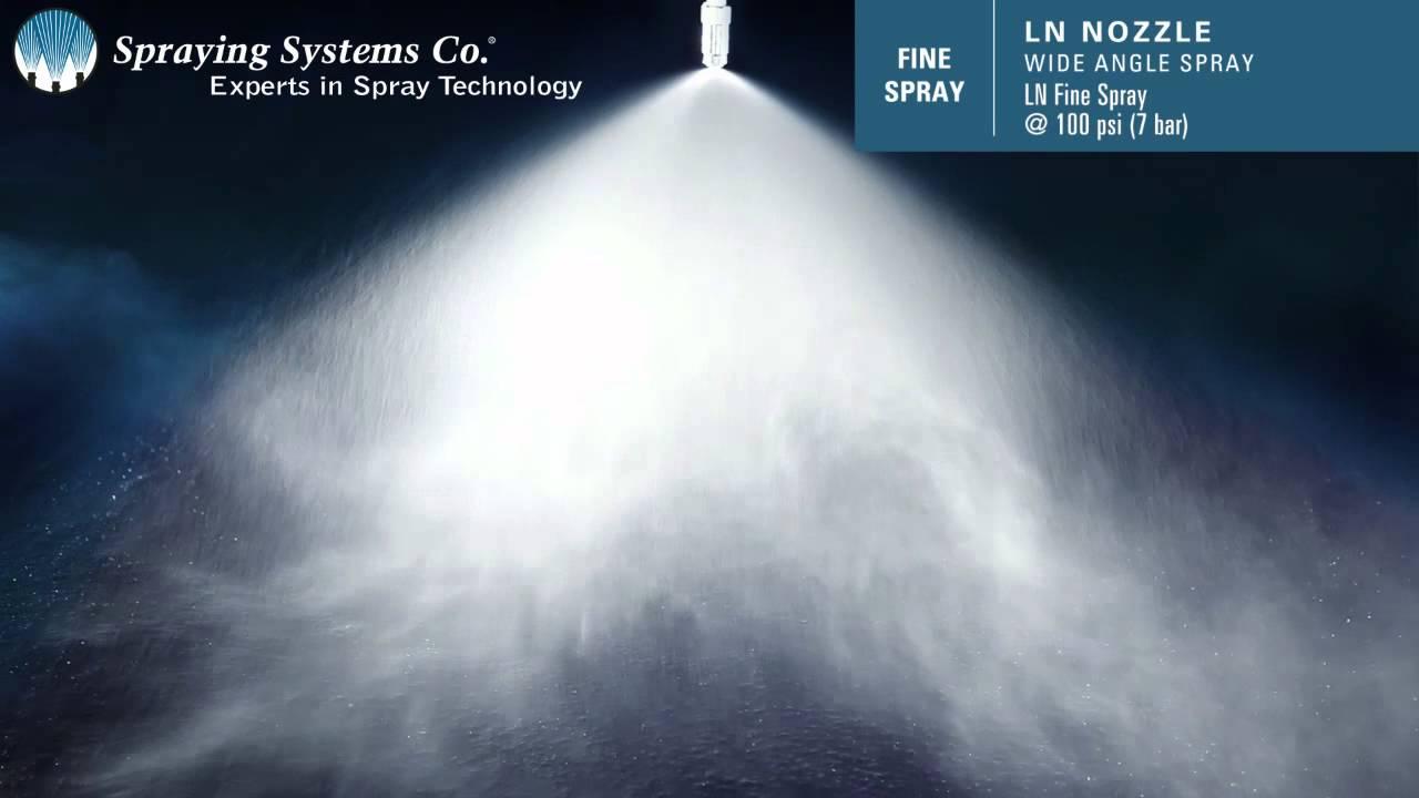 Ln Nozzle Wide Angle Fine Spray Hydraulic Atomizing