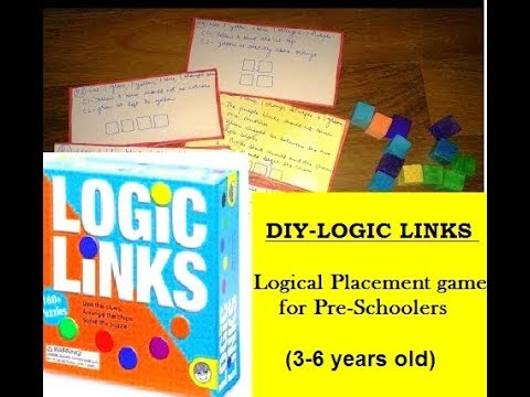 DIY - LOGIC LINKS - Logical Placement game for Pre-Schoolers