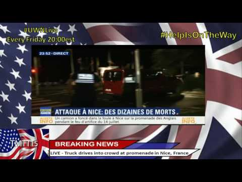 Truck drives into crowd at promenade in Nice, France. 70+ dead, 100's injured