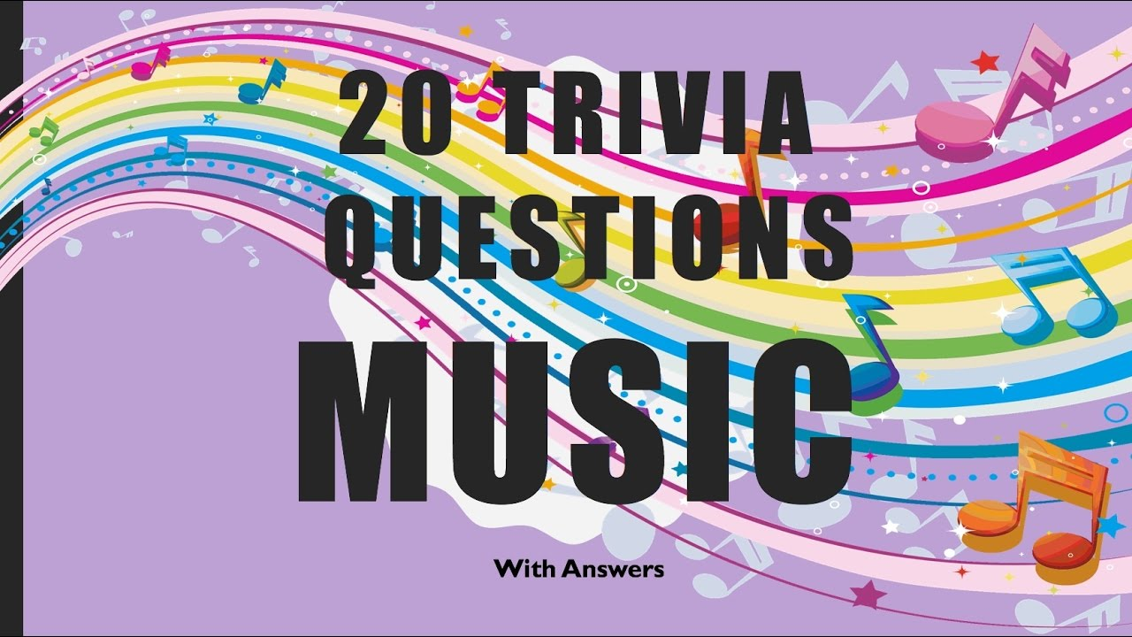 20 Trivia Questions Music No 1 Youtube