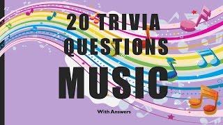 20 Trivia Questions (Music) No. 1