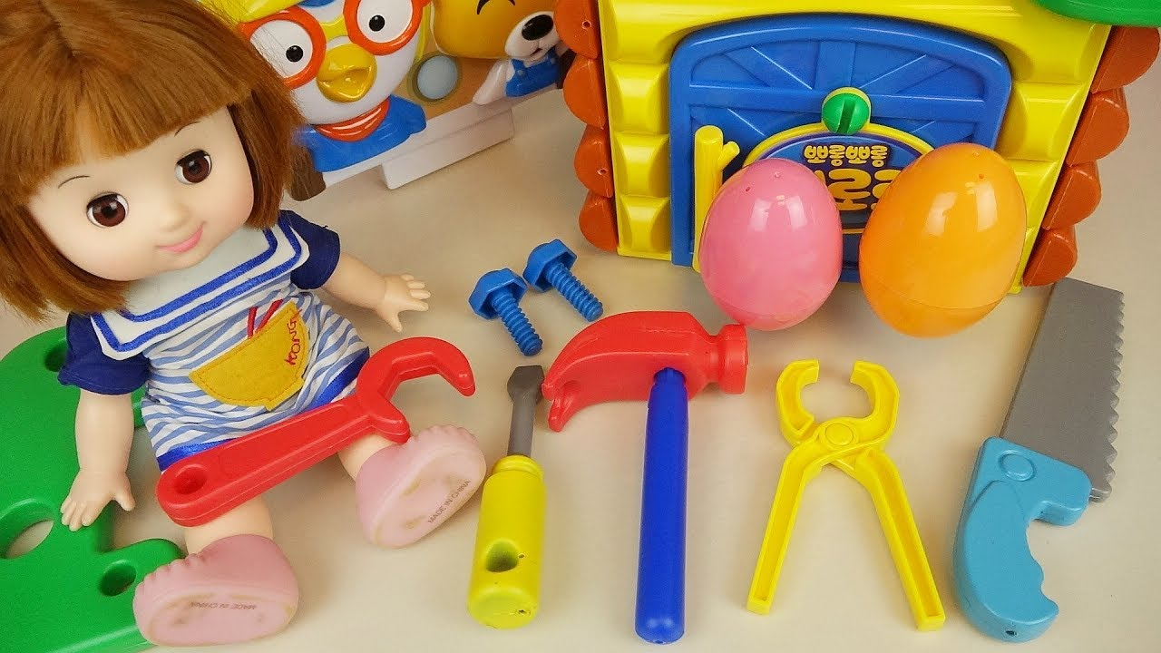 Tool And House Making Baby Doll Surprise Eggs Toys Play Youtube