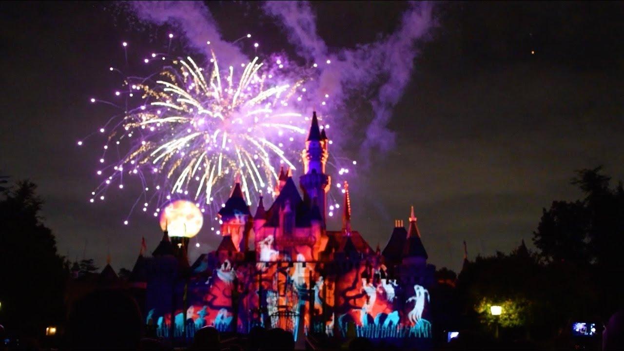 halloween screams fireworks show mickeys halloween party 2017 disneyland park