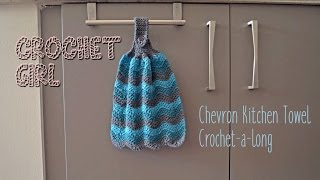 Chevron Kitchen Dish Towel CROCHET-A-LONG Part 1(, 2016-11-14T00:41:05.000Z)