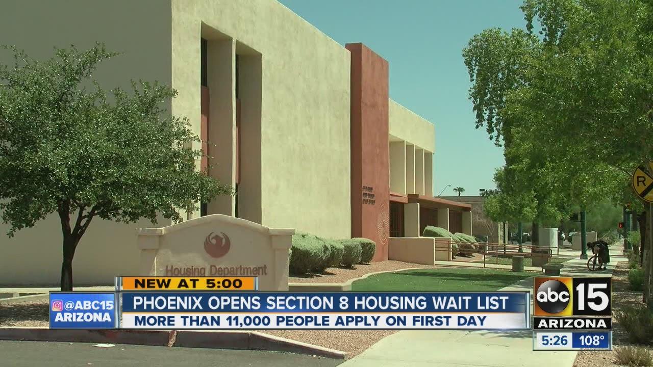 phoenix opens section 8 housing wait list youtube