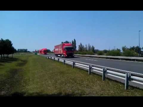 F1 trucks heading for Hungary