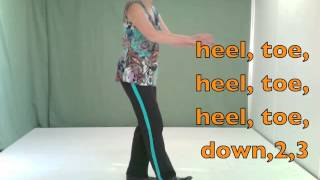 How to do easy Irish dance steps- Side Swing Step SLOW PRACTICE TO MUSIC