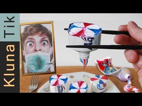 EATING TOOTHPASTE SUSHI!!! Kluna Tik Dinner | ASMR eating sounds no talk comiendo pasta de dientes