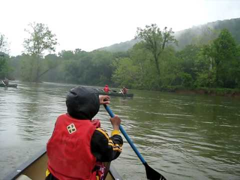 Canoeing in James River State Park