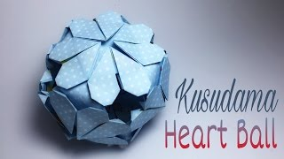 PAPER BALL ORIGAMI TUTORIAL | KUSUDAMA BALL