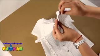 Блузка школьная для девочки цвет белый короткий рукав р 134 152 арт 1730Z