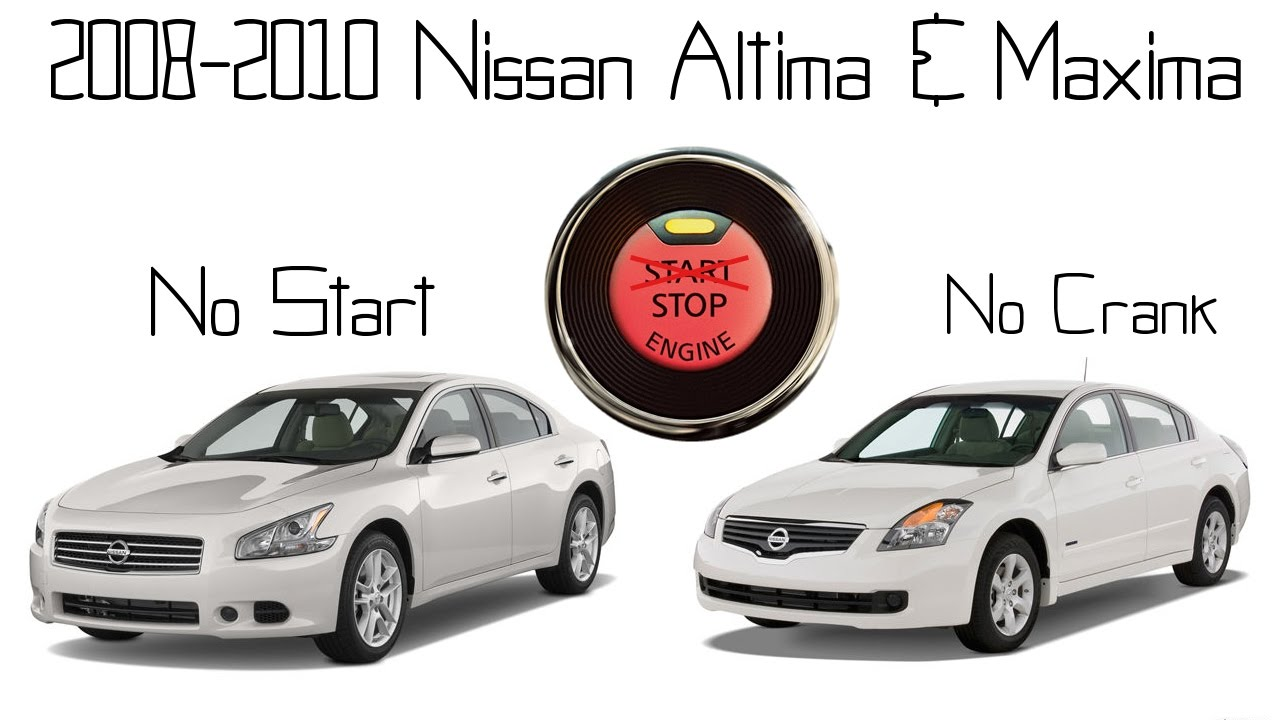 small resolution of nissan maxima altima no start push start button unresponsive repair steering lock failure