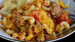 Easy Macaroni Turkey/hamburger Casserole