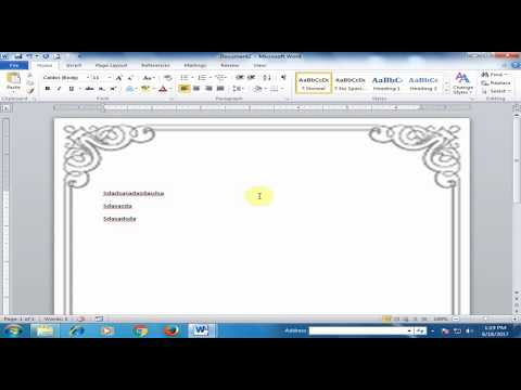 How to Insert Custom Page Border in Microsoft Word : Word Ti