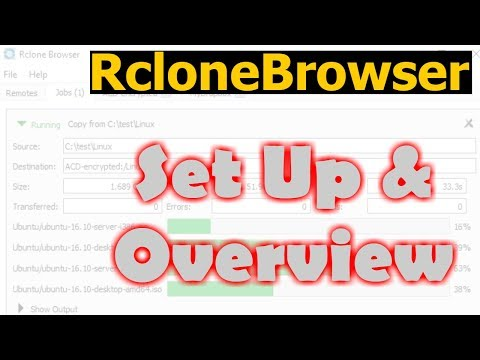Rclone Browser - Set up and overview in Windows 10 - YouTube