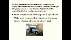 Buying a Wheelchair Van and How To Insure Accessible Vehicle
