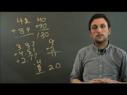 how to use front end estimation when adding decimals fractions decimals youtube. Black Bedroom Furniture Sets. Home Design Ideas