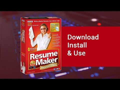 WinWay Resume Deluxe Software   YouTube