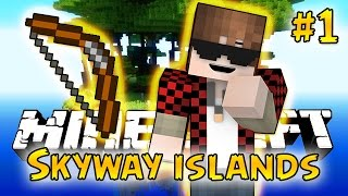 Minecraft: SkyWay Islands Survival #1 - SPIDERS! (Epic Sky Adventure)