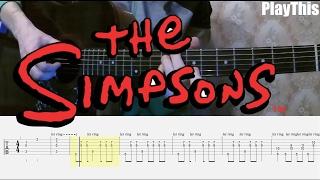 [Симпсоны на гитаре] Как играть тему из The Simpsons + ТАБЫ   Уроки гитары от PlayThis#11