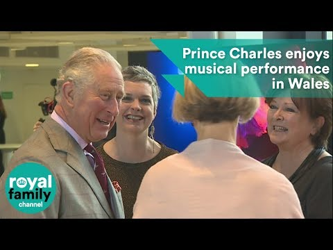 Prince Charles enjoys musical performance in Wales