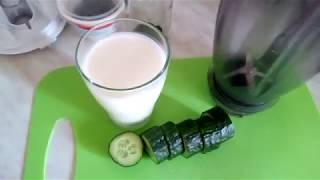 Коктейль кефир огурец зелень в блендере для стройной фигуры