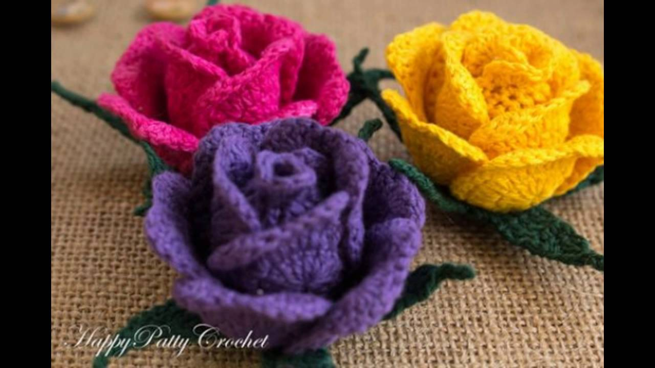 Flores tejidas a crochet video de imagenes youtube - Como tejer com ...
