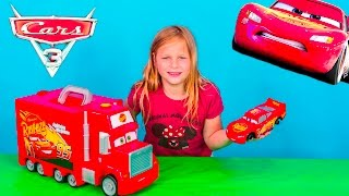 CARS 3 Disney Pixar Lightning McQueen Mack Tool Kit and Hauler Toy Video