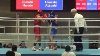 H30 国体 少年 LW級 砂田華社 対 岡崎淳志 ボクシング
