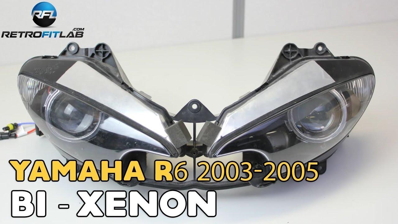 yamaha r6 2003-2005 bi-xenon projector mini h1 6 0 installation