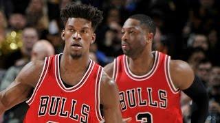 Dwyane Wade (20/10/9), Jimmy Butler (18/10/10) | Bulls Win at Cleveland