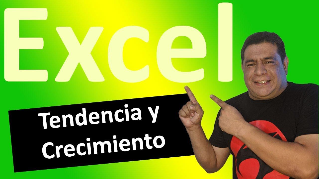 Funciones De Tendencia En Microsoft Excel