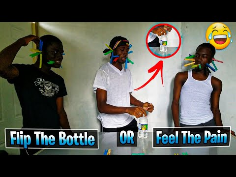 Flip The Bottle or Feel The Pain Challenge 🔥🇯🇲 ft Kyle Comedy | Javaughn Hinds