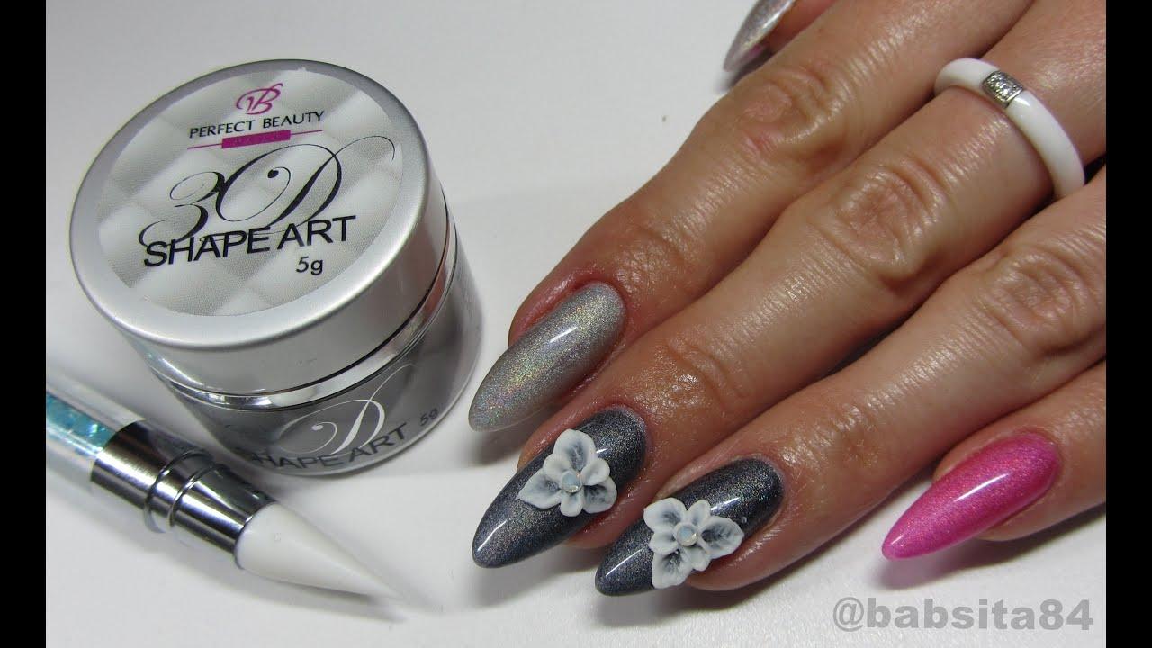 Holographic Nails 3d Flowers 3d Shape Art Zel Plastelina